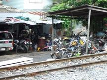motorbike wreckers in Thailand