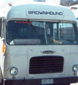 Old Grey Hound Bus